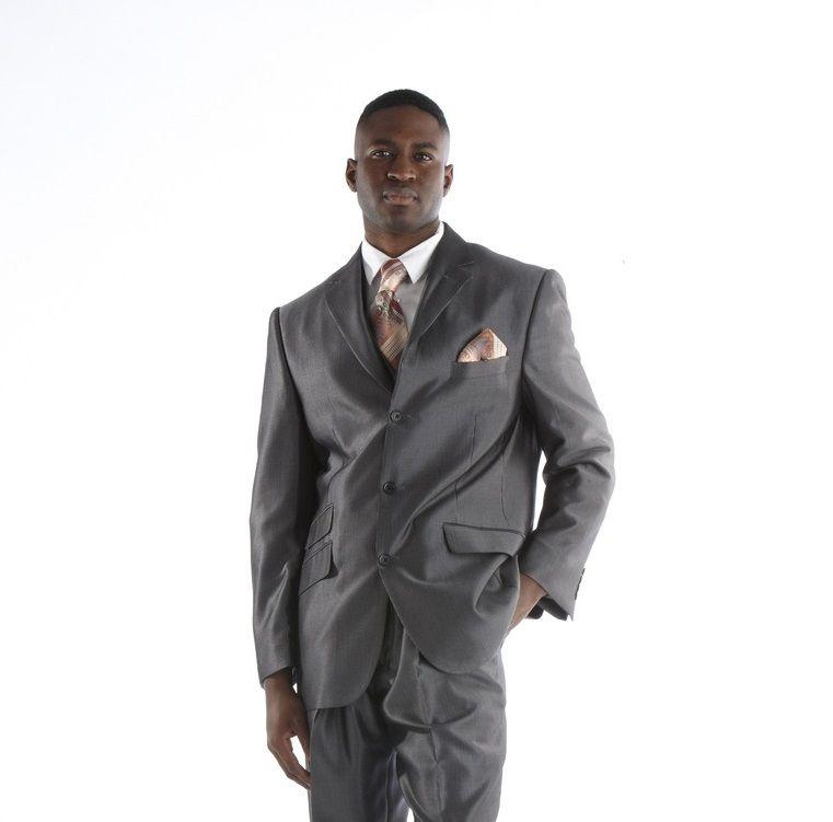 Steve Harvey Celebration Stripe Suit - Black