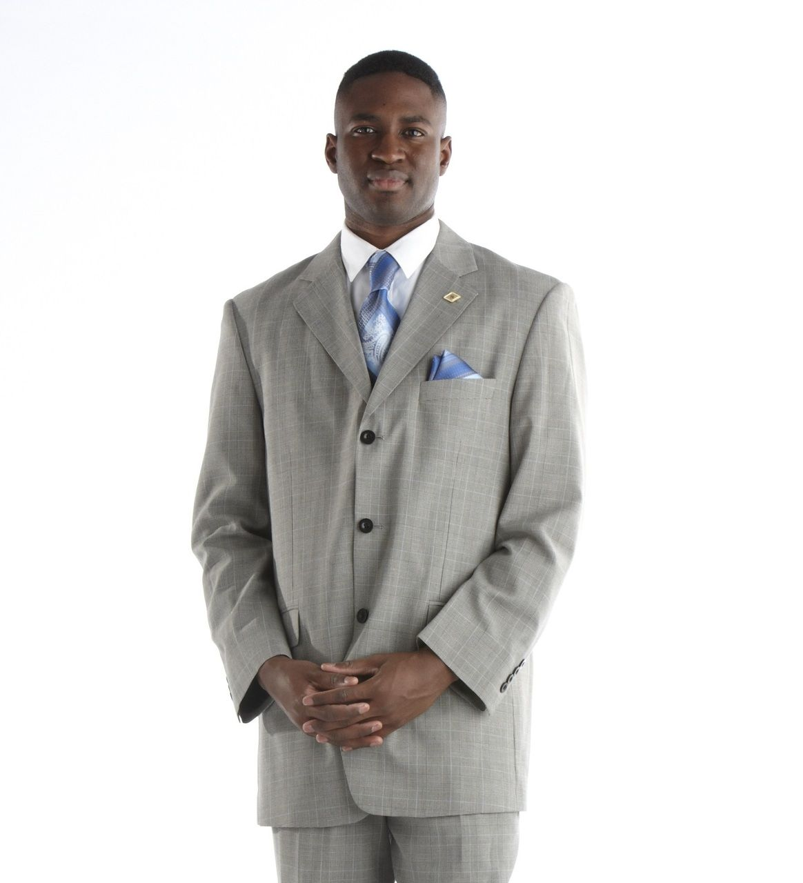 Stacy Adams Shadow Grey Plaid Suit