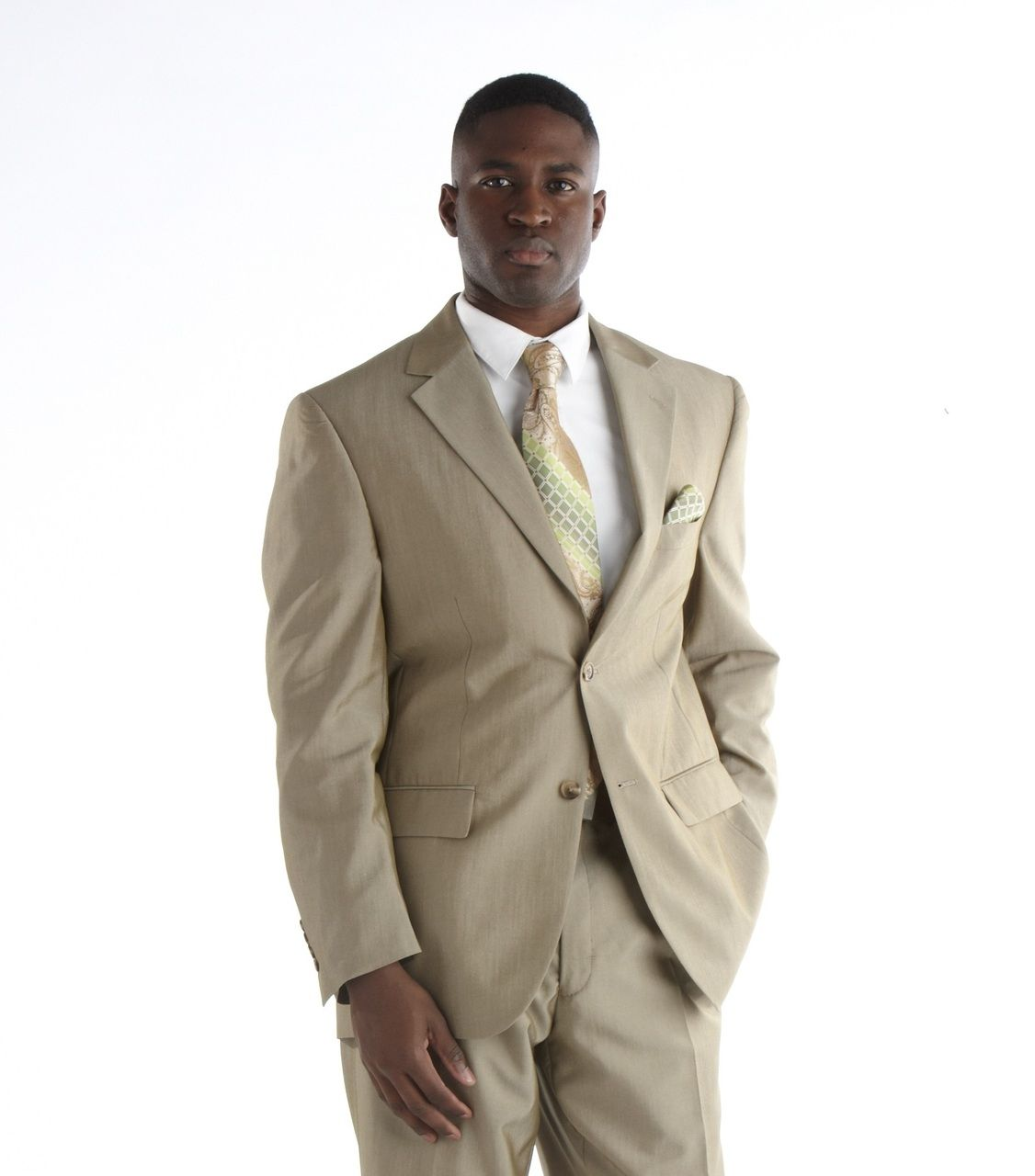 Steve Harvey Sharkskin Suit - Champagne