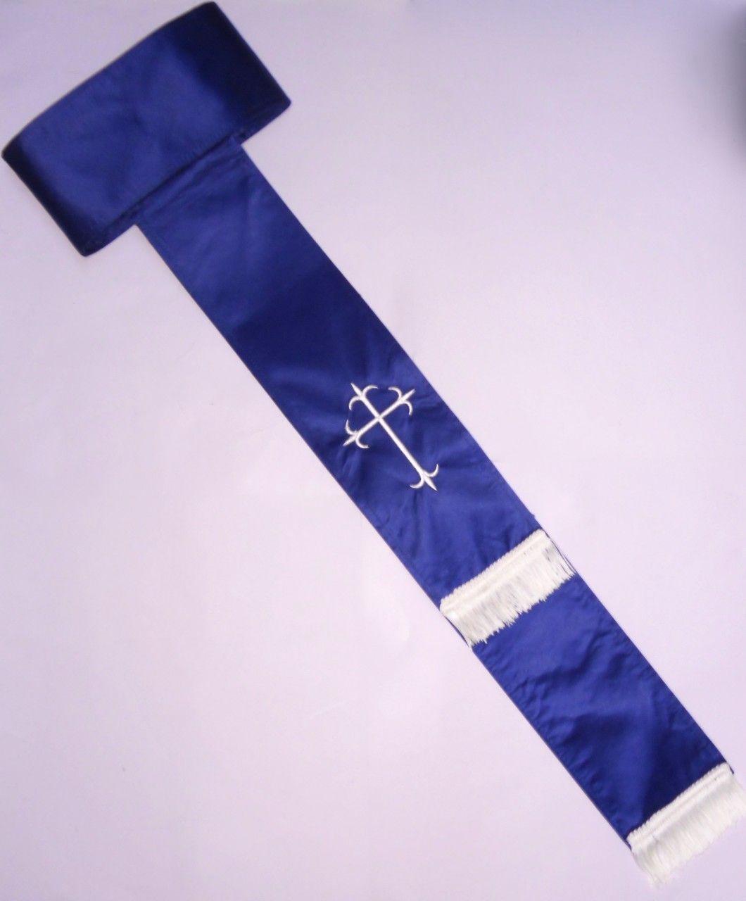 Band Cincture Belt - Royal/Creme Cross