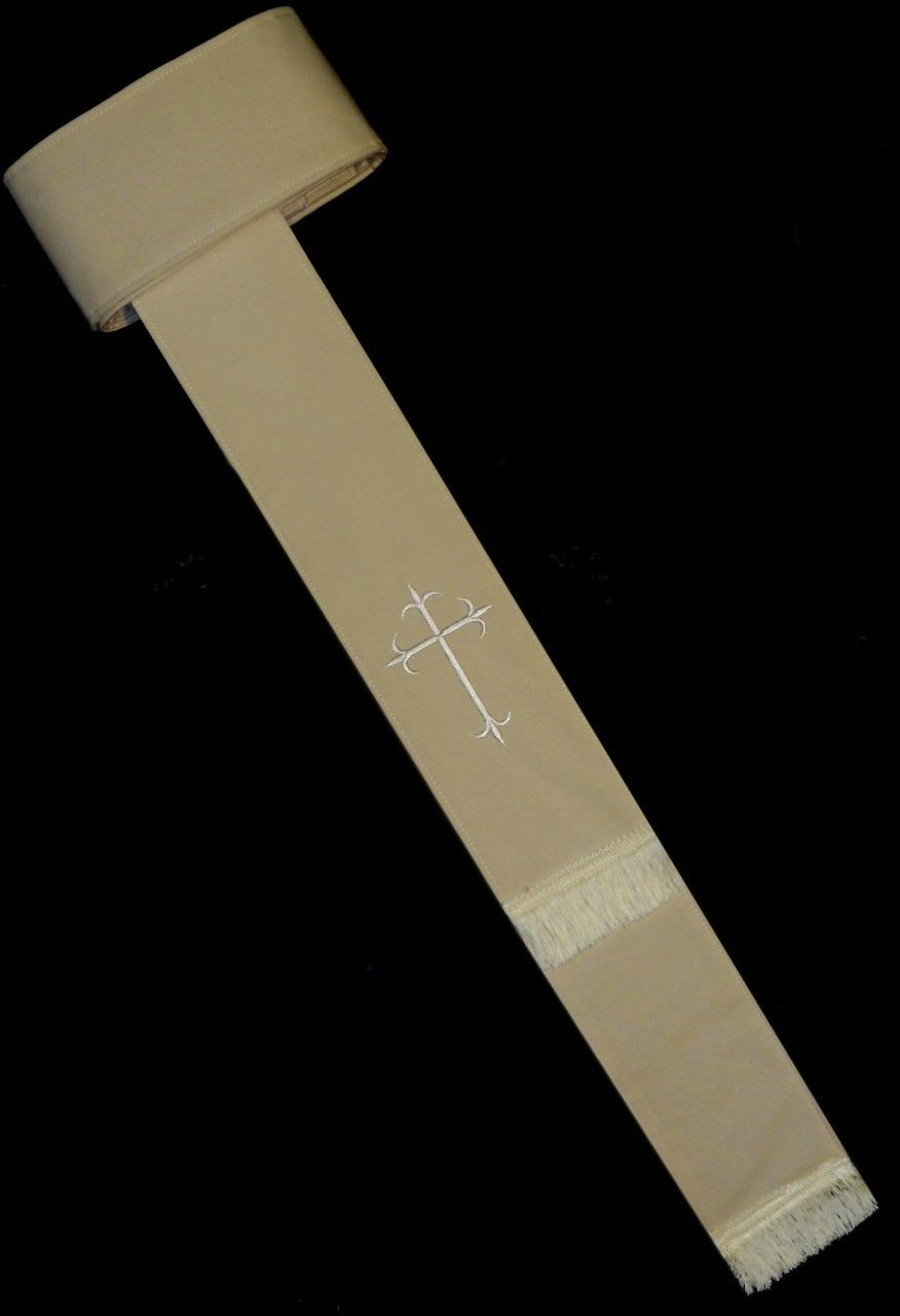 Band Cincture Belt - Creme/Creme Cross