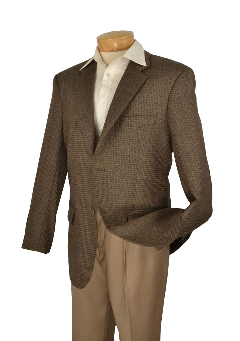Men's Premium Wool Plaid Sport Coat - Olive
