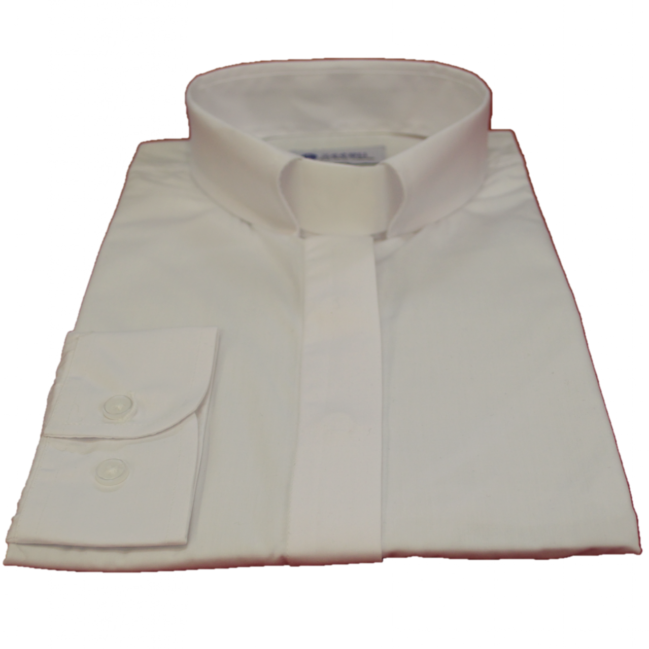 503. Women's Long-Sleeve Tab Collar Clergy Shirt - White