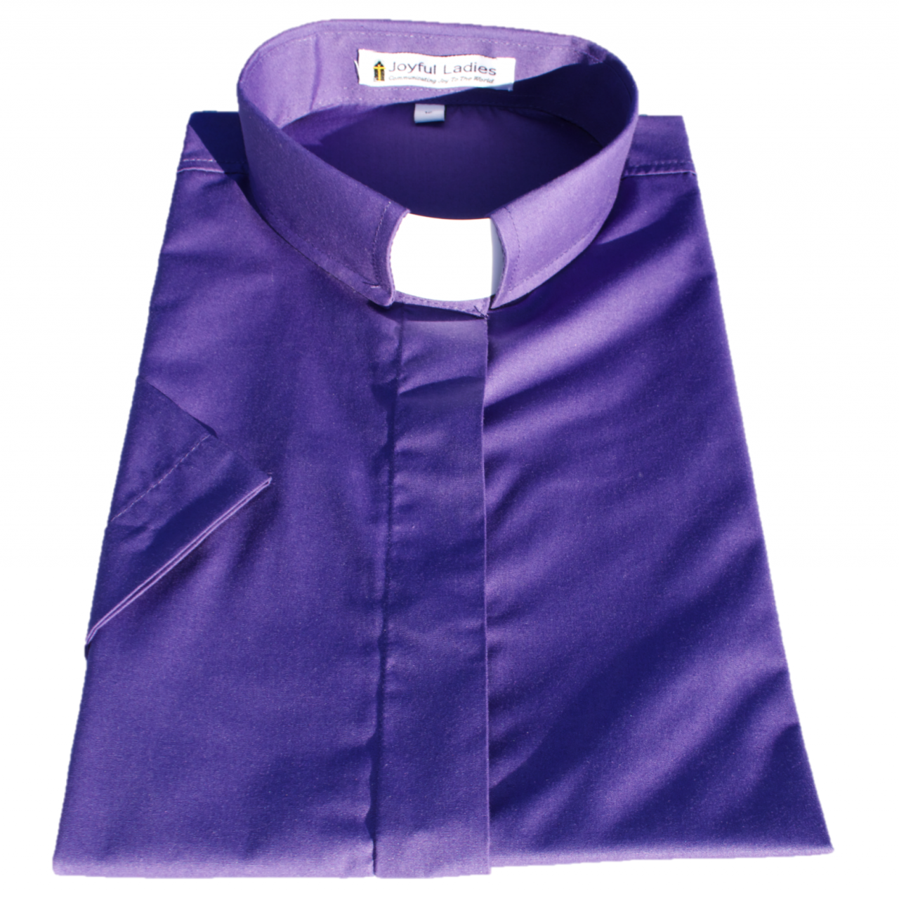 555. Women's Short-Sleeve Tab-Collar Clergy Shirt - Purple