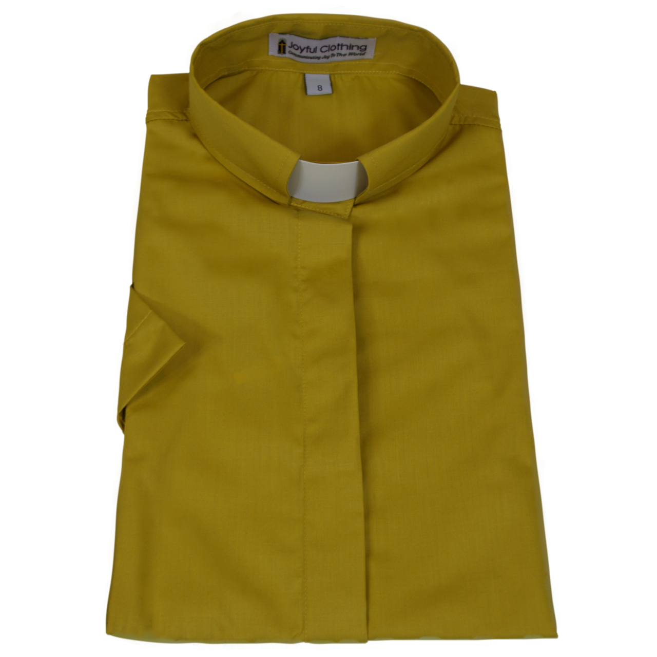 585. Women's Short-Sleeve Tab-Collar Clergy Shirt - Church Gold