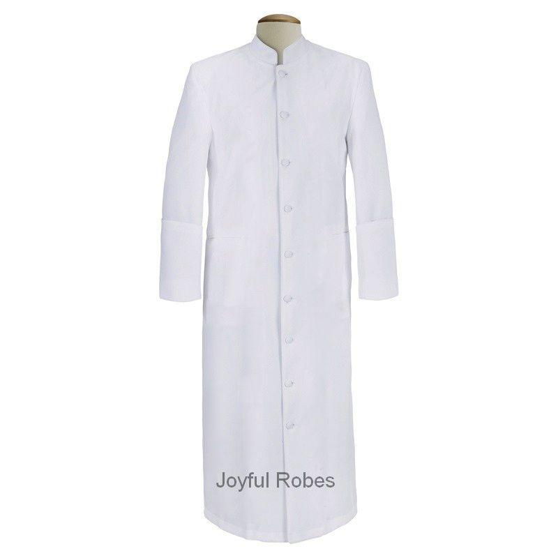 102 M. Men's Clergy/Pastor Robe - Solid White