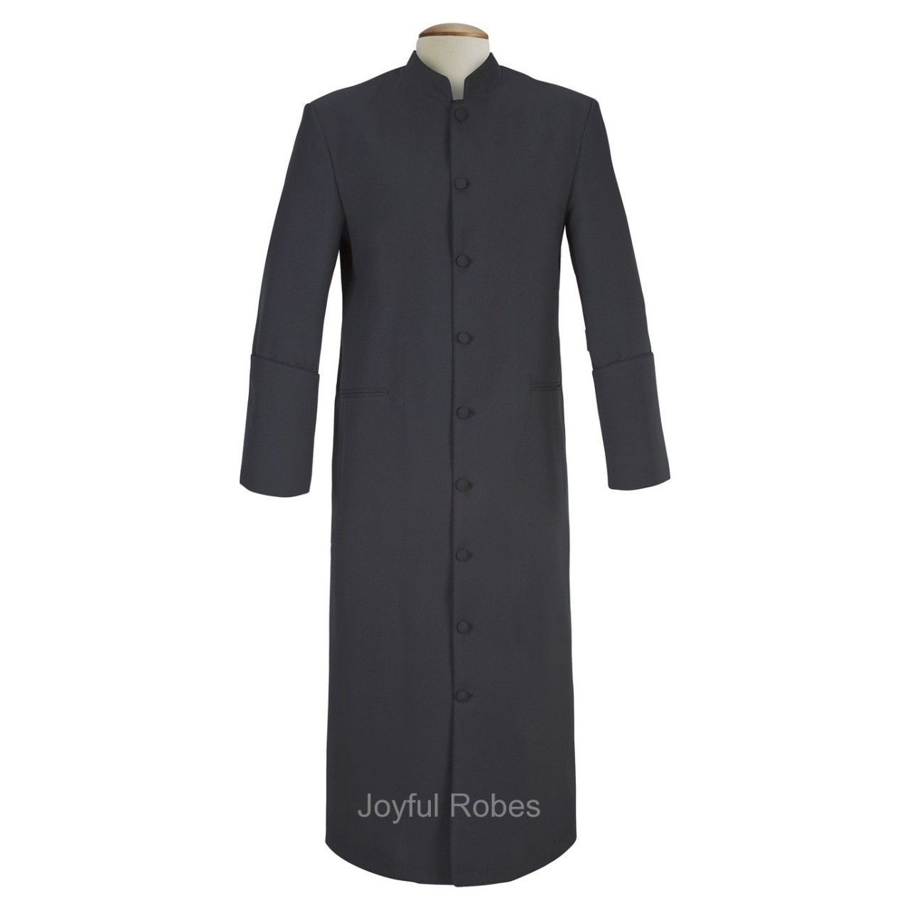 101 M. Men's Pastor/Clergy Robe Solid Black