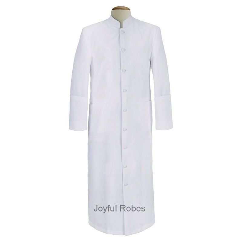 102 M. Men's Clergy/Pastor Robe - Solid White