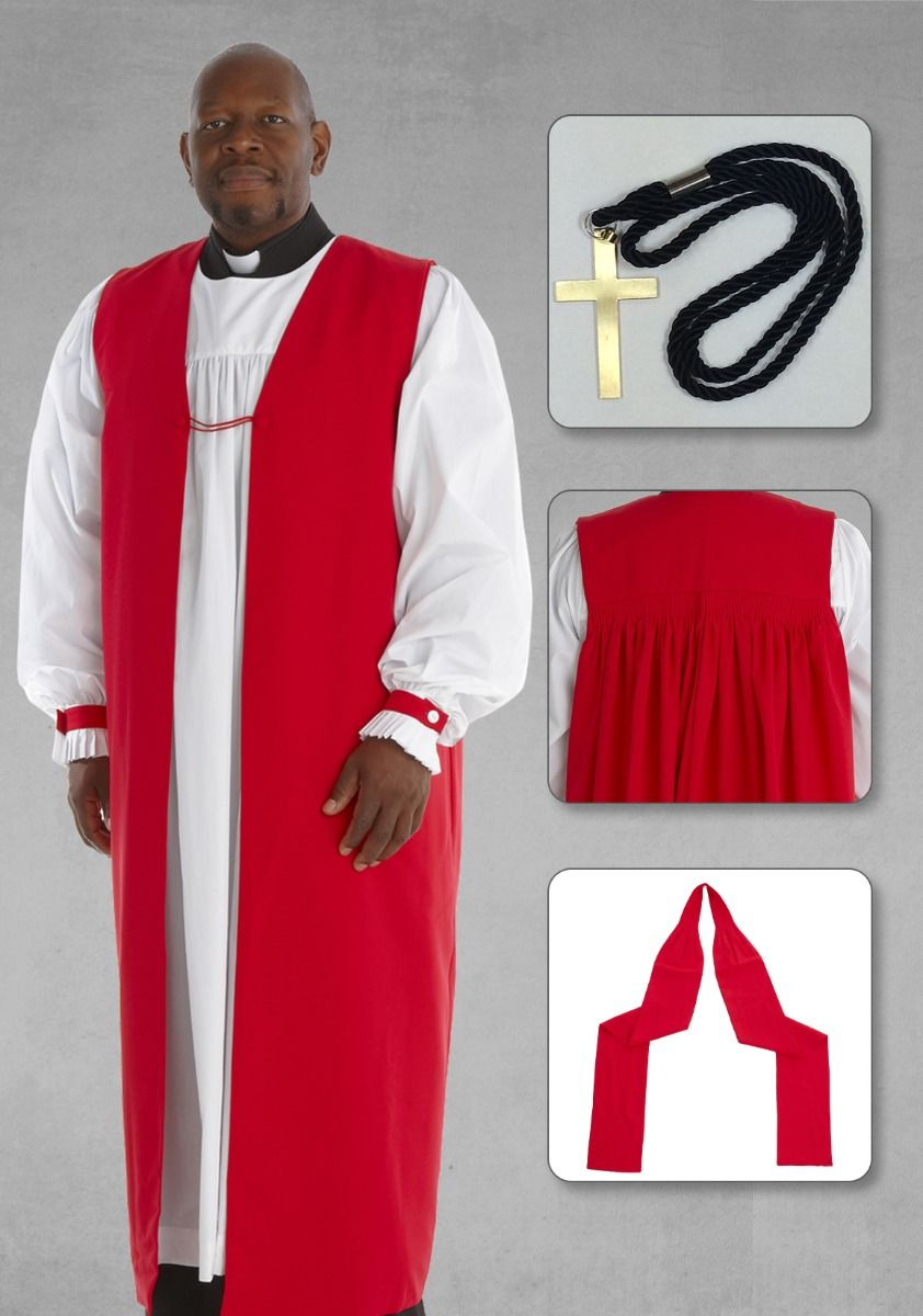 Apostle Red Chimere and Clergy Rochet in Red