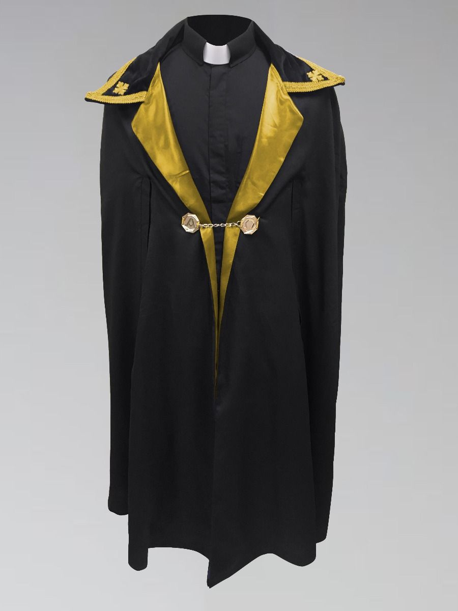 Black and Gold Ministerial Cape