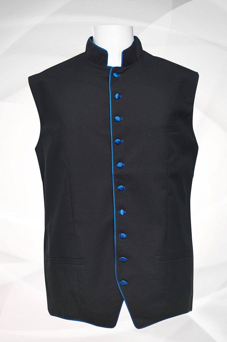 Men's Classic Clergy Vest - Black/Royal