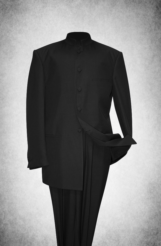 SU101. Premium Style Clergy Suit - Black