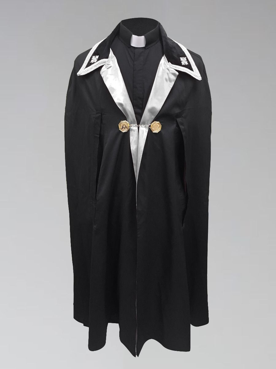 Black and White Ministerial Cape