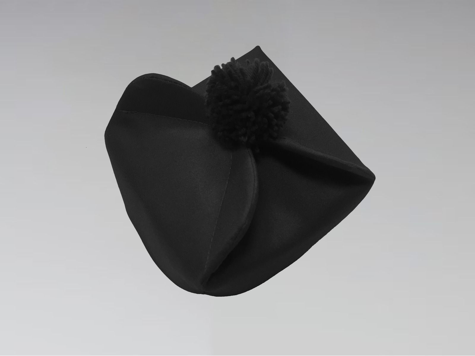Clergy Biretta Hat Black