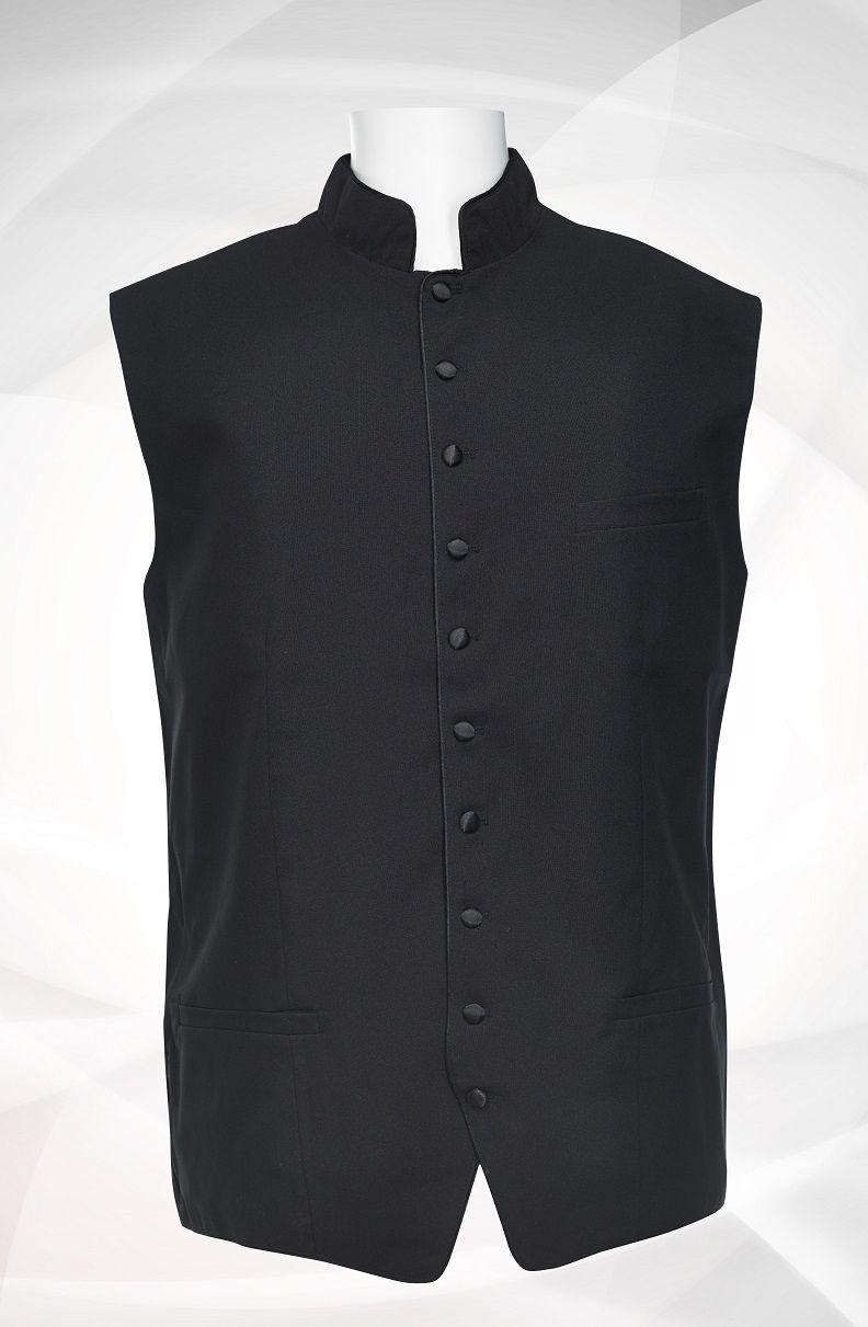 Men's Classic Clergy Vest - Black/Black
