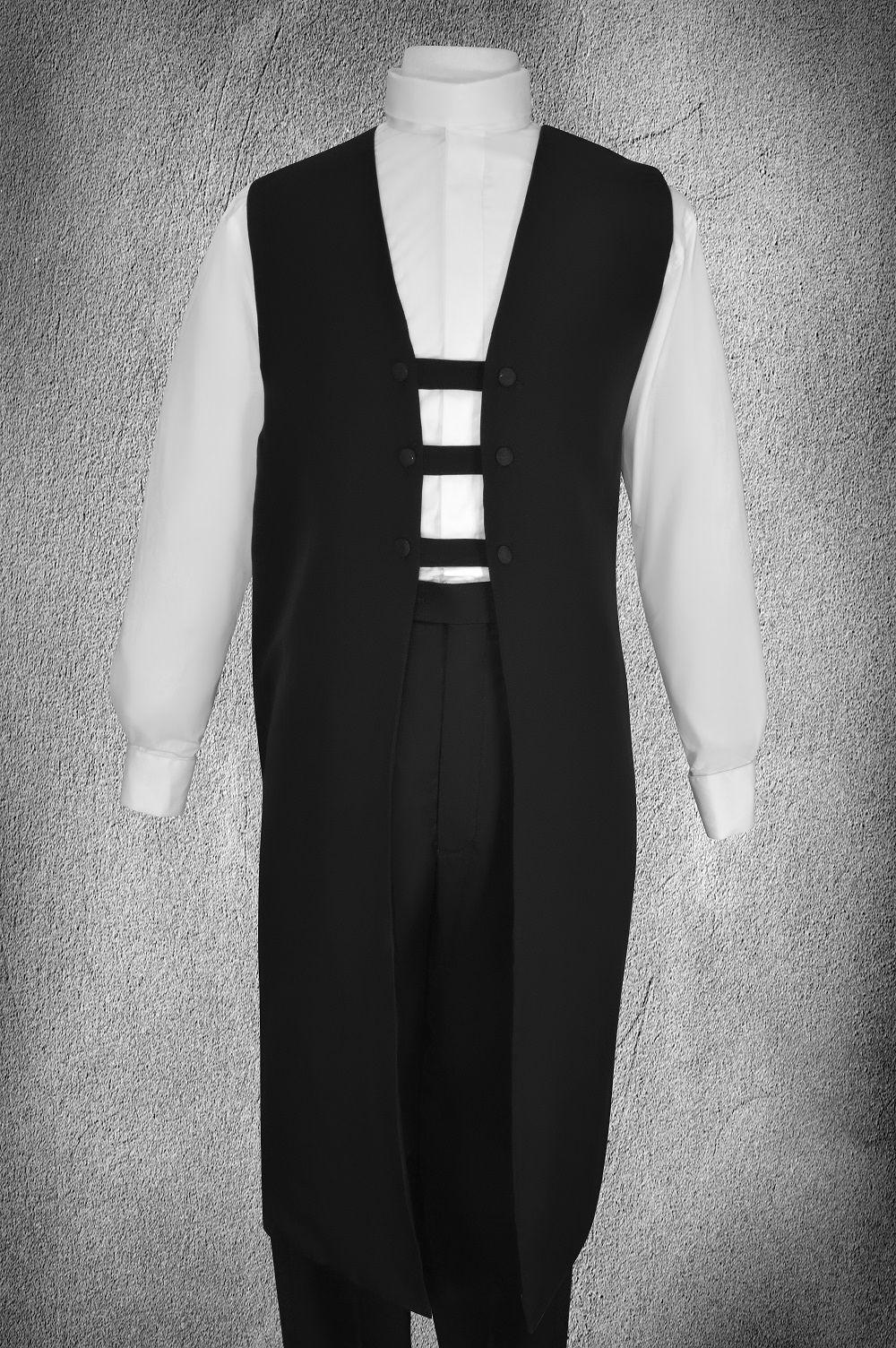 Ministerial Full Collar Vesture Set Black/White