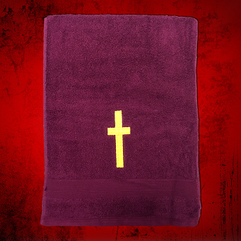 Clergy Towel in Burgundy with Gold