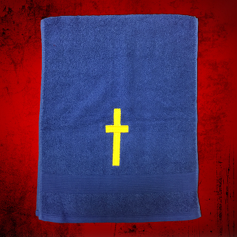 Clergy Towel in Royal with Gold