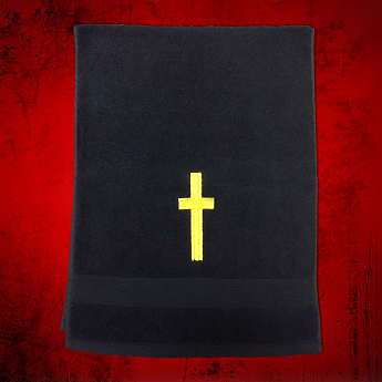 Clergy Towel in Black with Gold