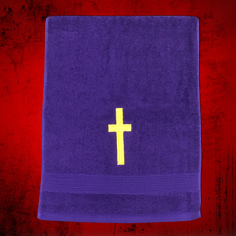 Clergy Towel in Purple with Gold