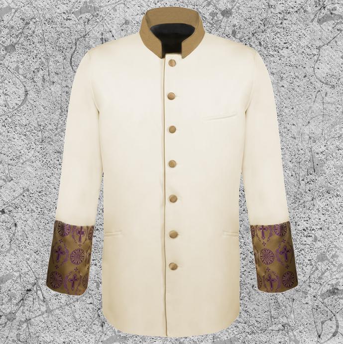 Men's Cream Clergy Jacket