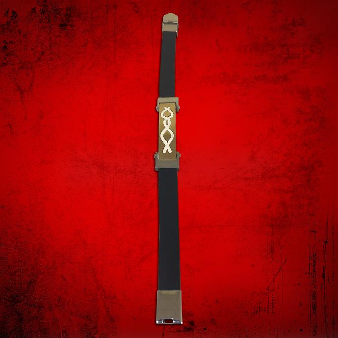 Cross Bracelet Black in Two Tone Religious
