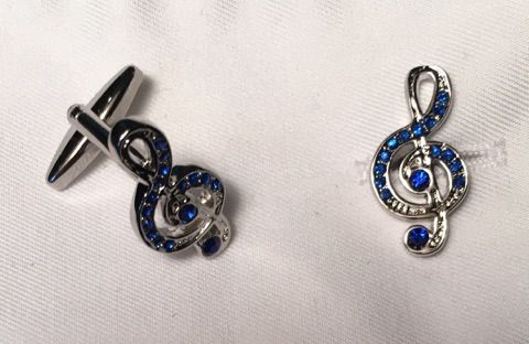 2 Pc. Musical Praise Notes with Royal Stone Cufflinks