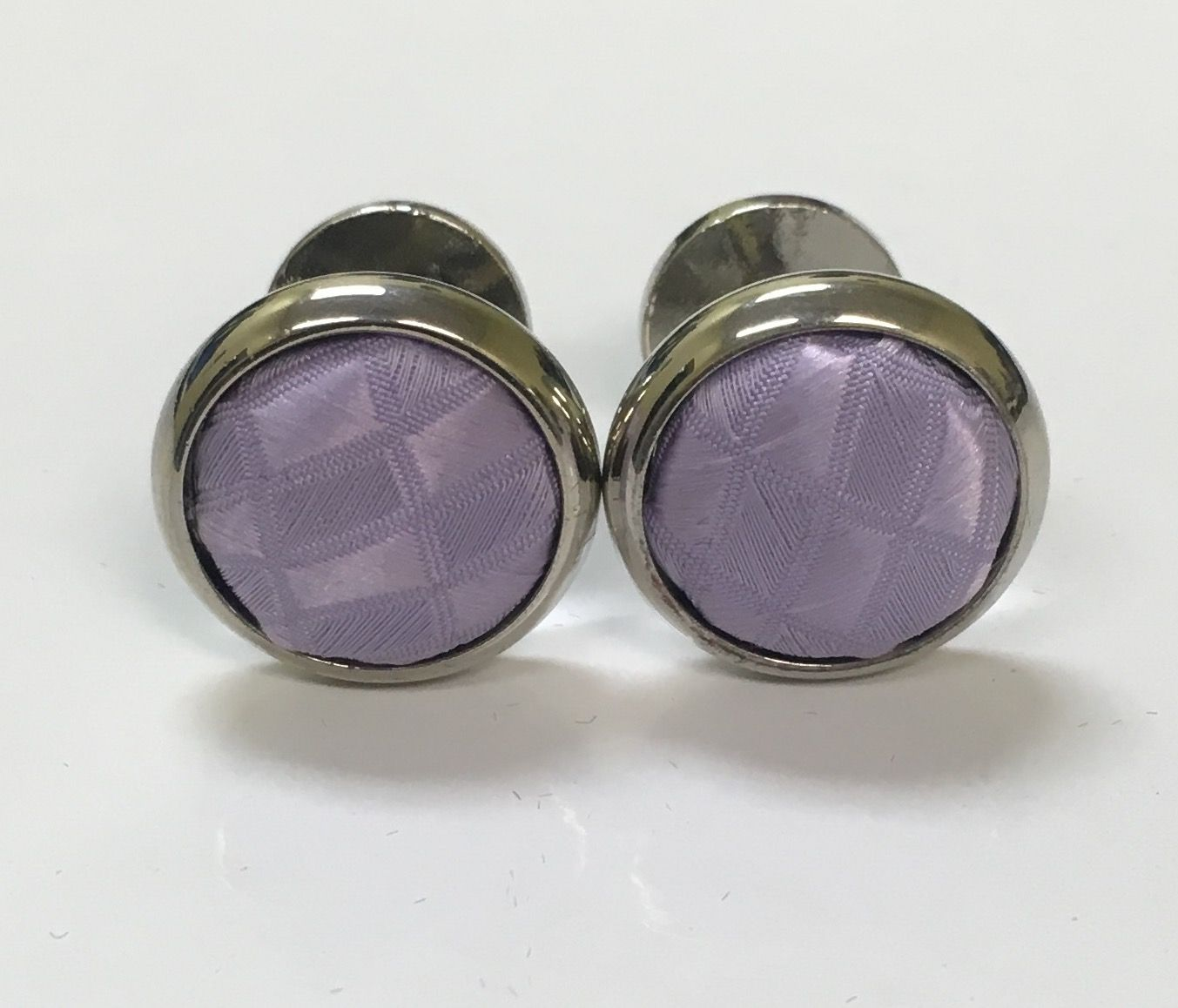 *2 Pc. Exquisite Fabric Cufflinks - Lavender