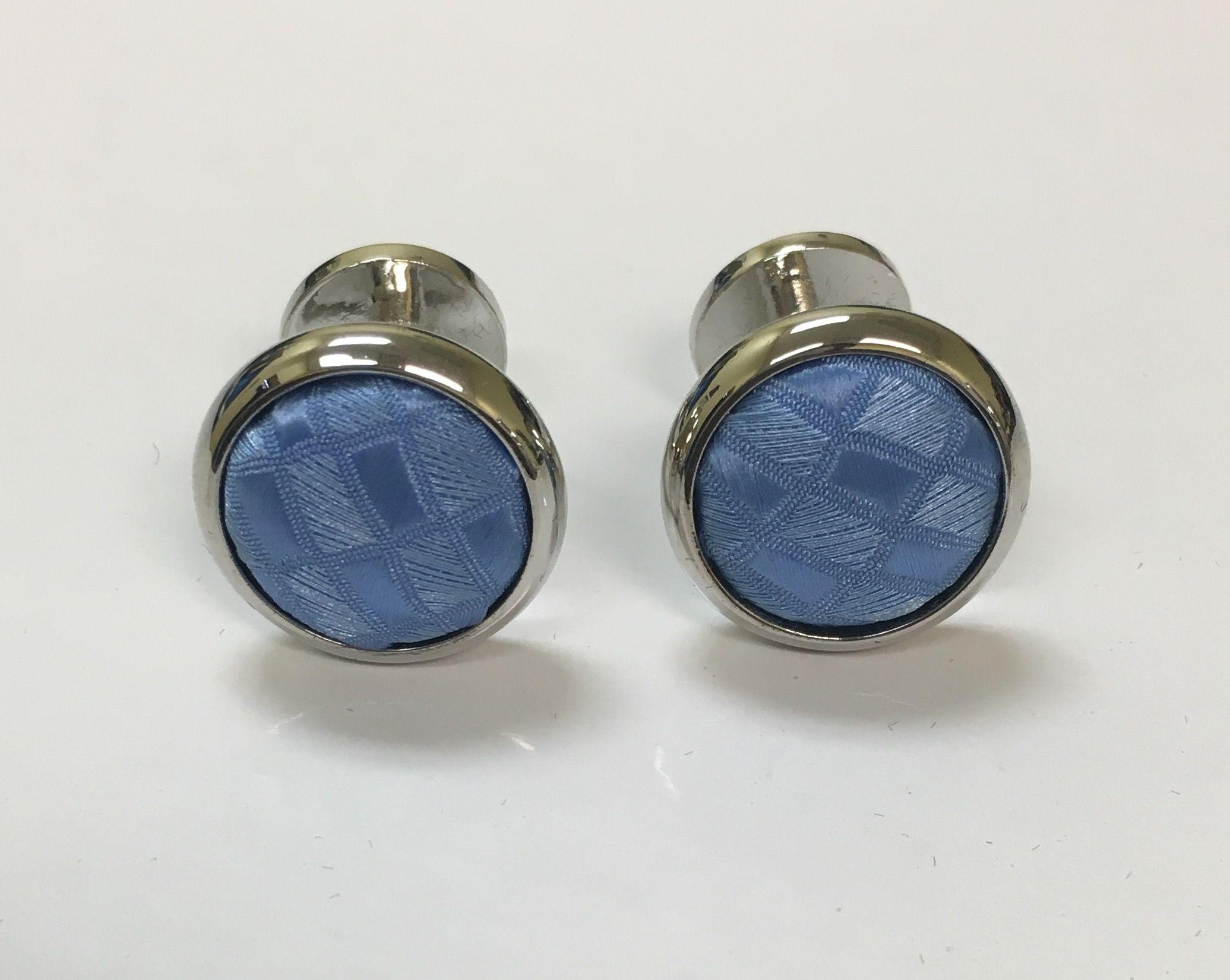 2 Pc. Exquisite Fabric Cufflinks - Blue