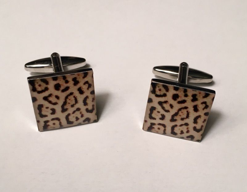 2 Pc. Exotic Cheetah Print Design Cufflinks