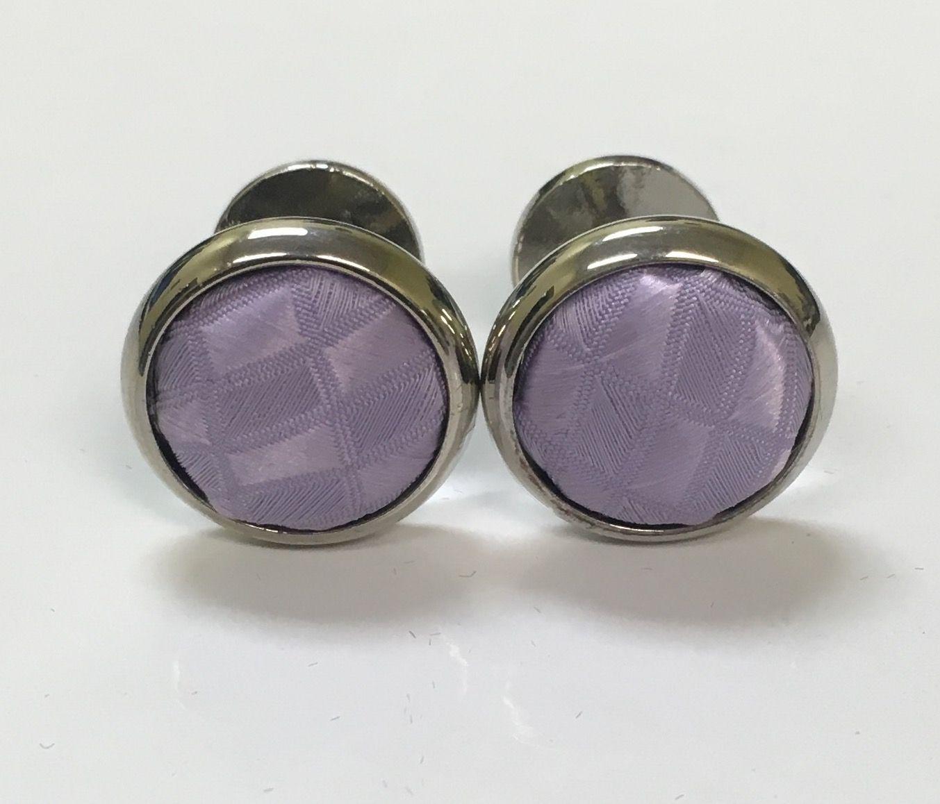 2 Pc. Exquisite Fabric Cufflinks - Lavender