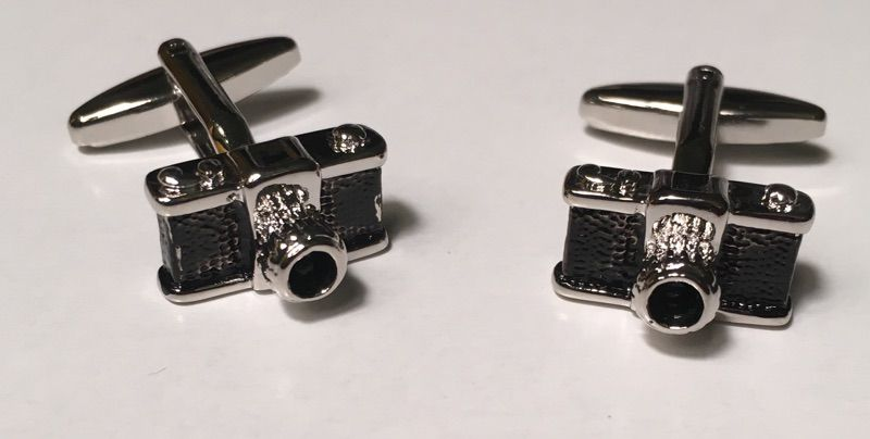 2 Pc. Lights, Camera, Action Photographer Imagery Hobby Cufflinks