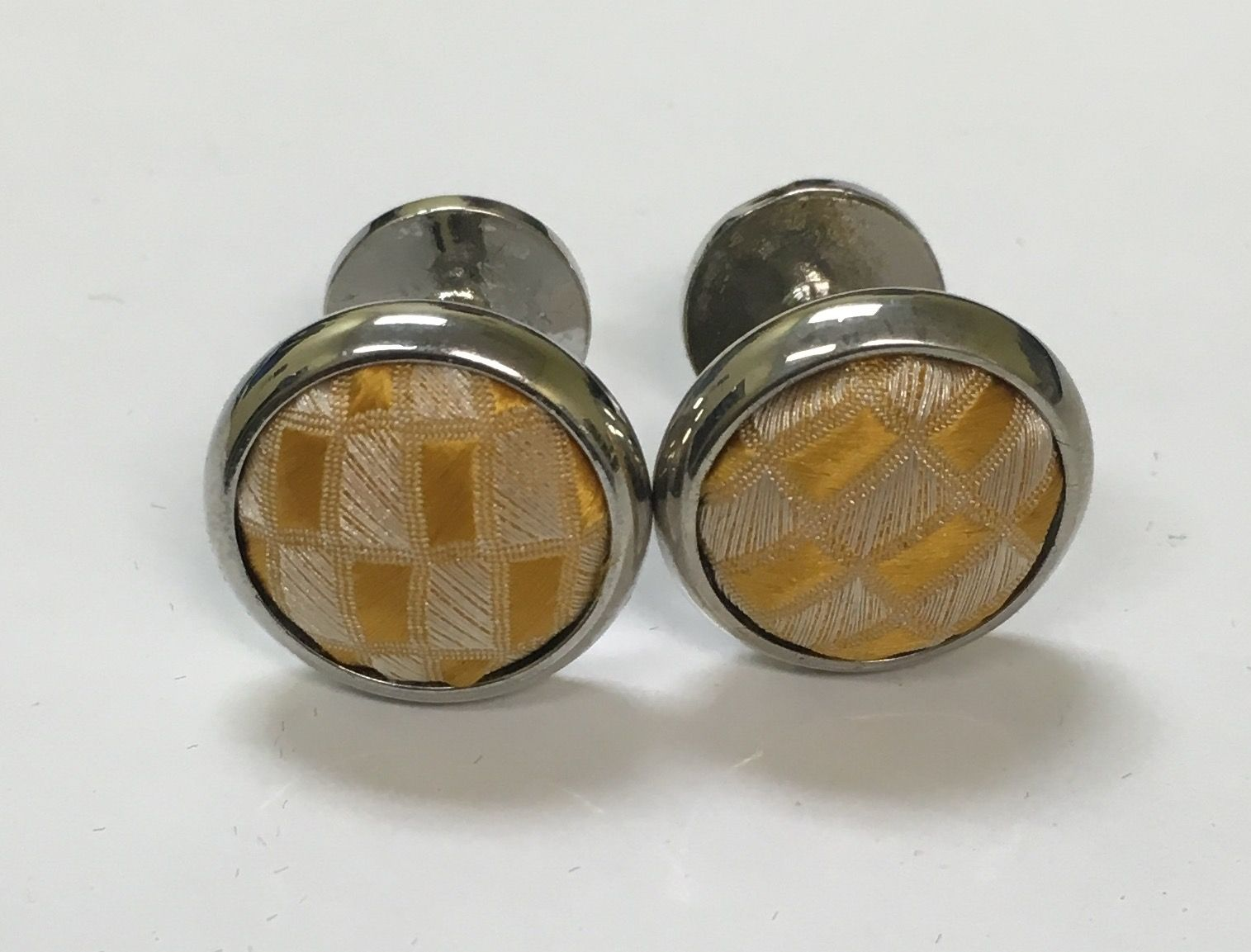 2 Pc. Exquisite Fabric Cufflinks - Gold