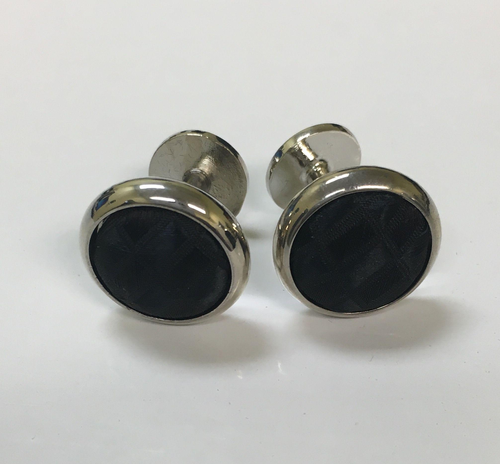 *2 Pc. Exquisite Fabric Cufflinks - Black
