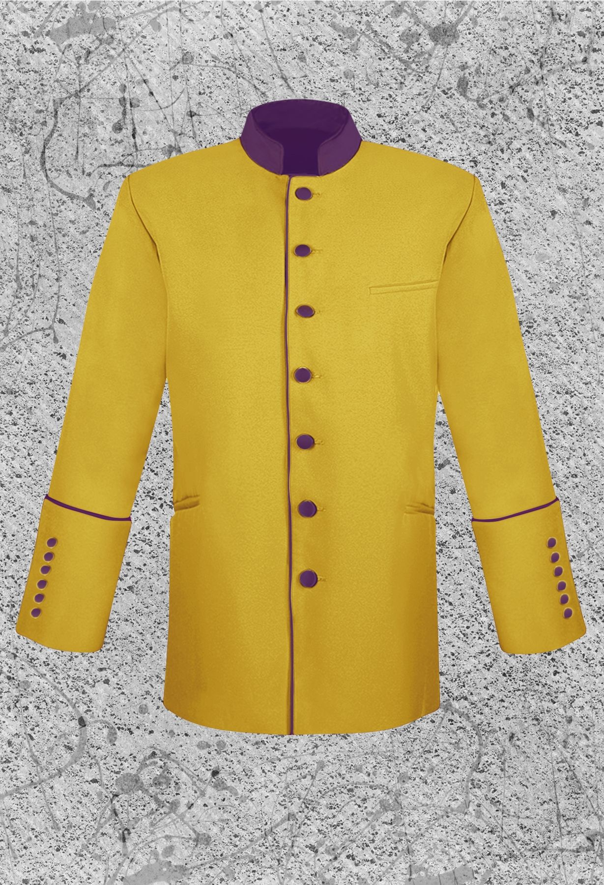 Mens Gold Clergy Jacket