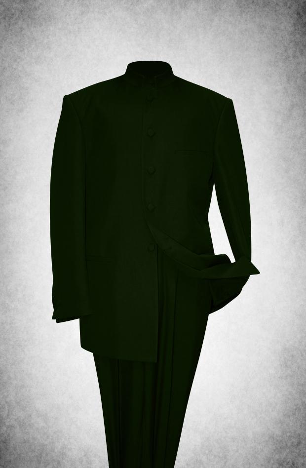 SU107. Premium Style Clergy Suit - Olive