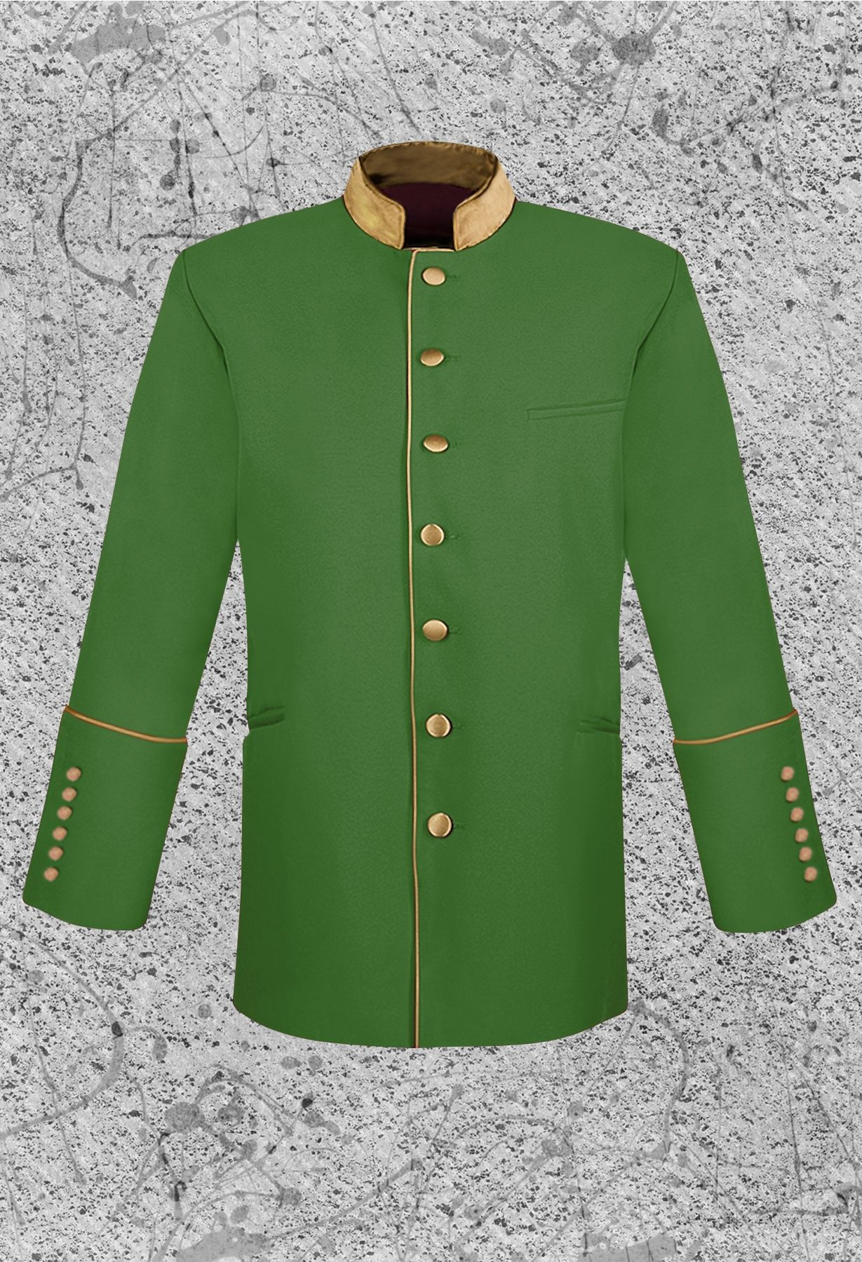 Men's Green and Gold Clergy Jacket