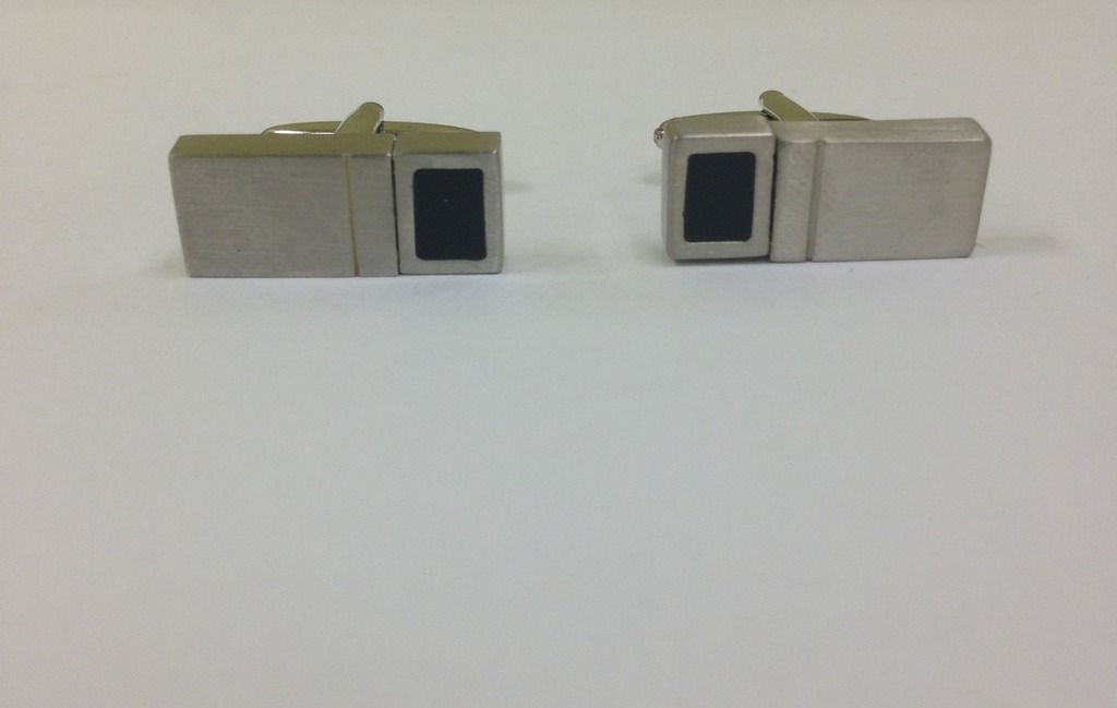 2 Pc. Reversible Block Two-Tone Design Cufflinks