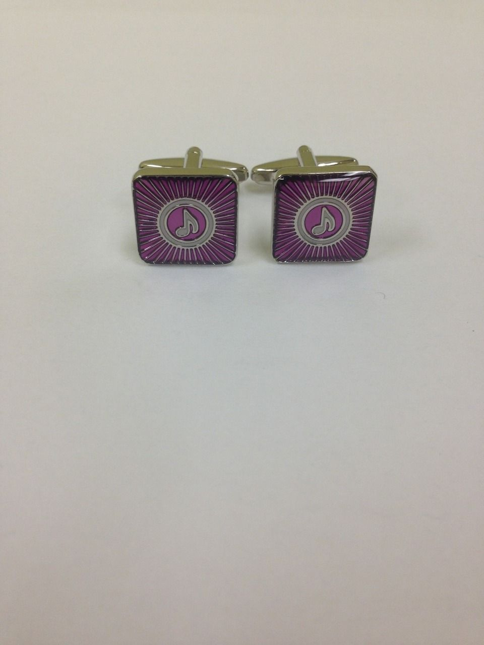 2 Pc. Gospel Tunes Fusion Purple Cufflinks