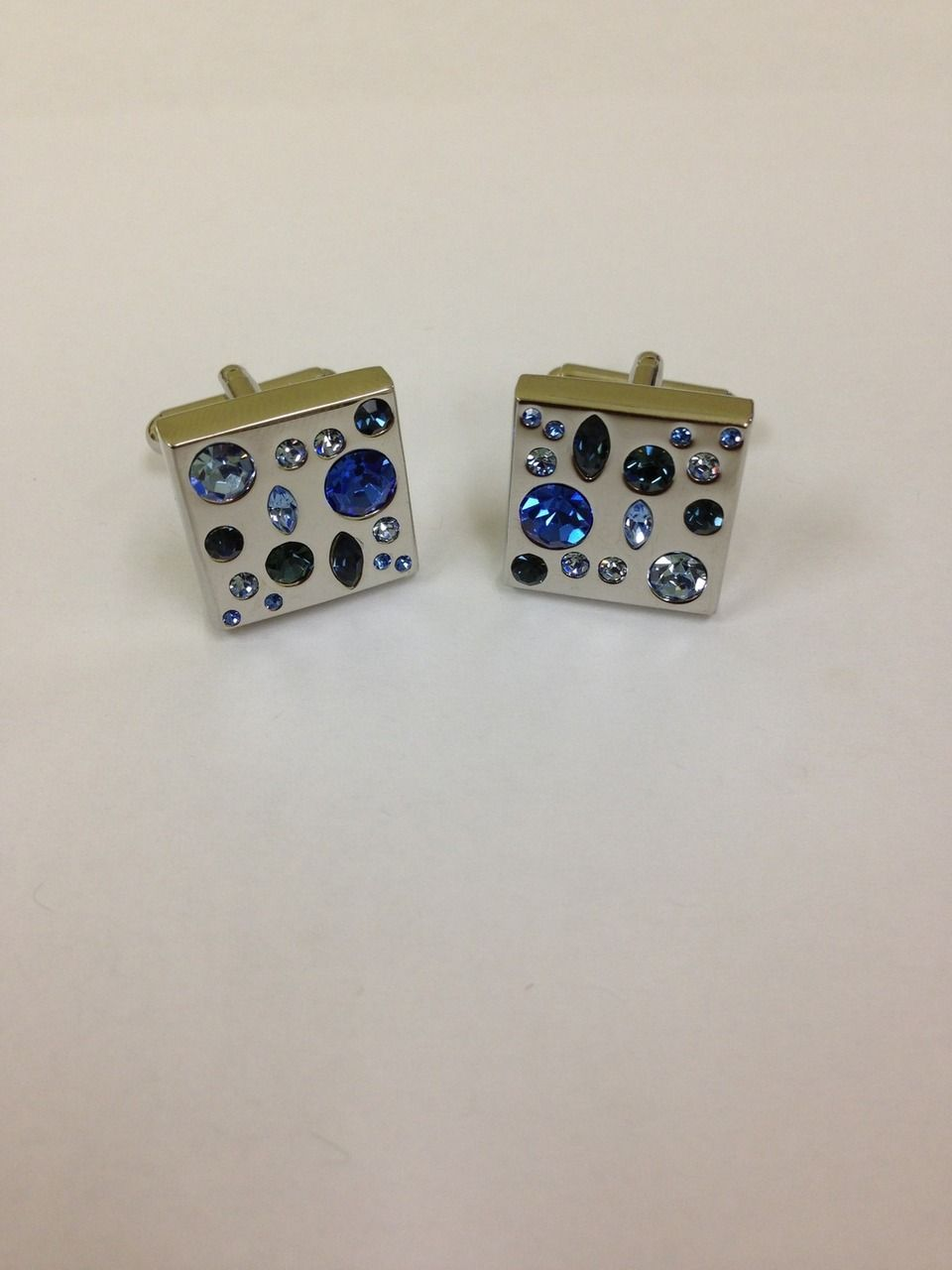 2 Pc. Blue Stone Fashion Design Cufflinks