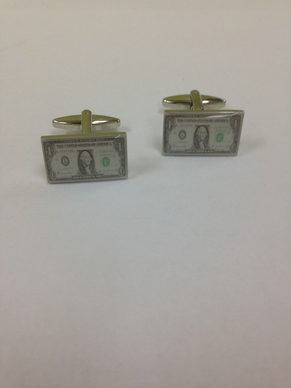 2 Pc. Lavish Fancy Dollar Print Cufflinks