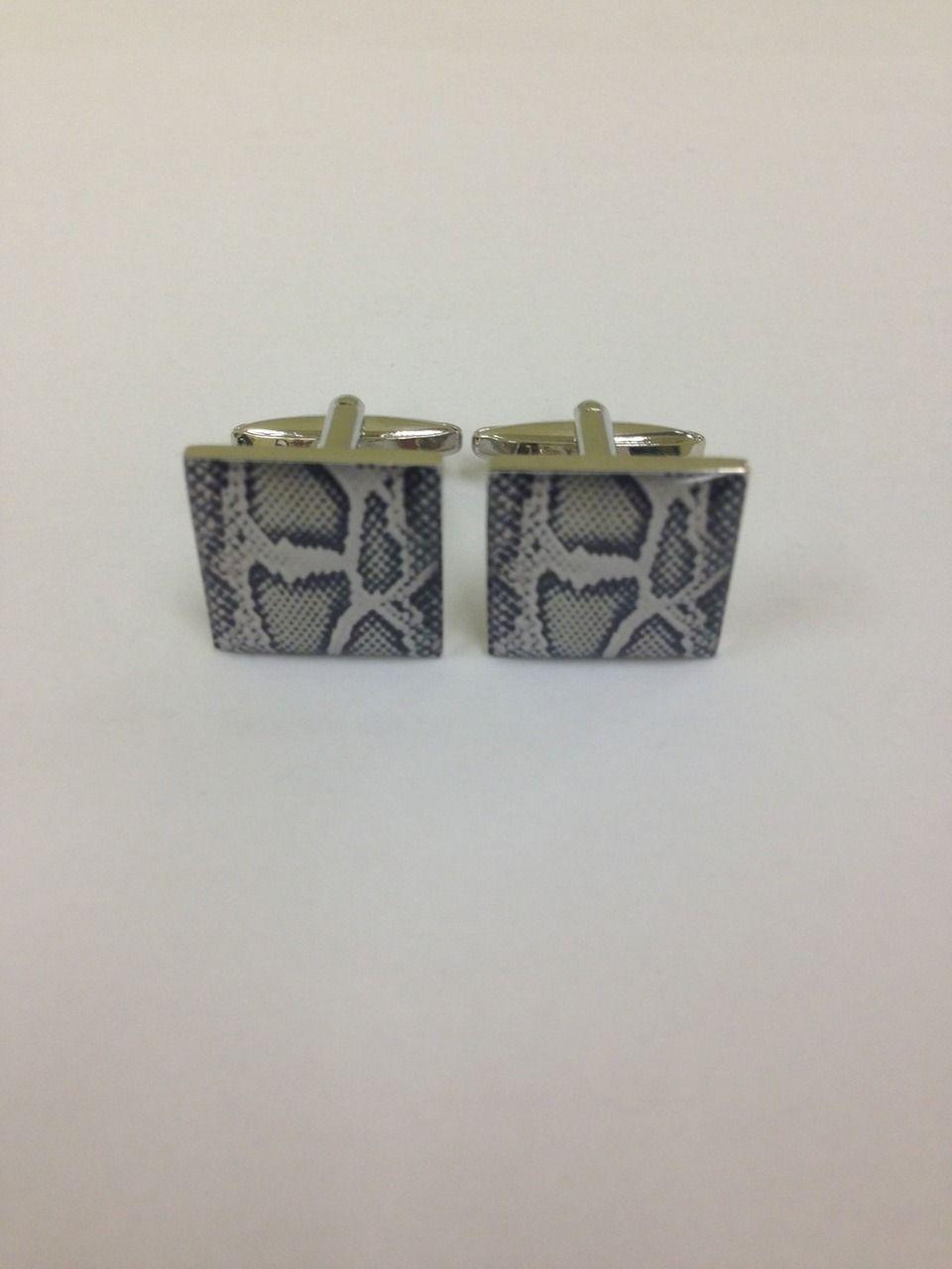 2 Pc. EXOTIC Zebra Print Design Cufflinks