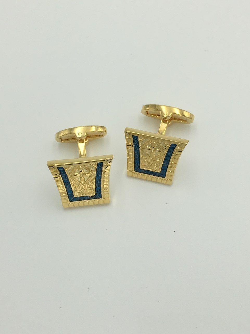 2 Pc. King of the Nile Style Cufflinks - Cobalt Blue