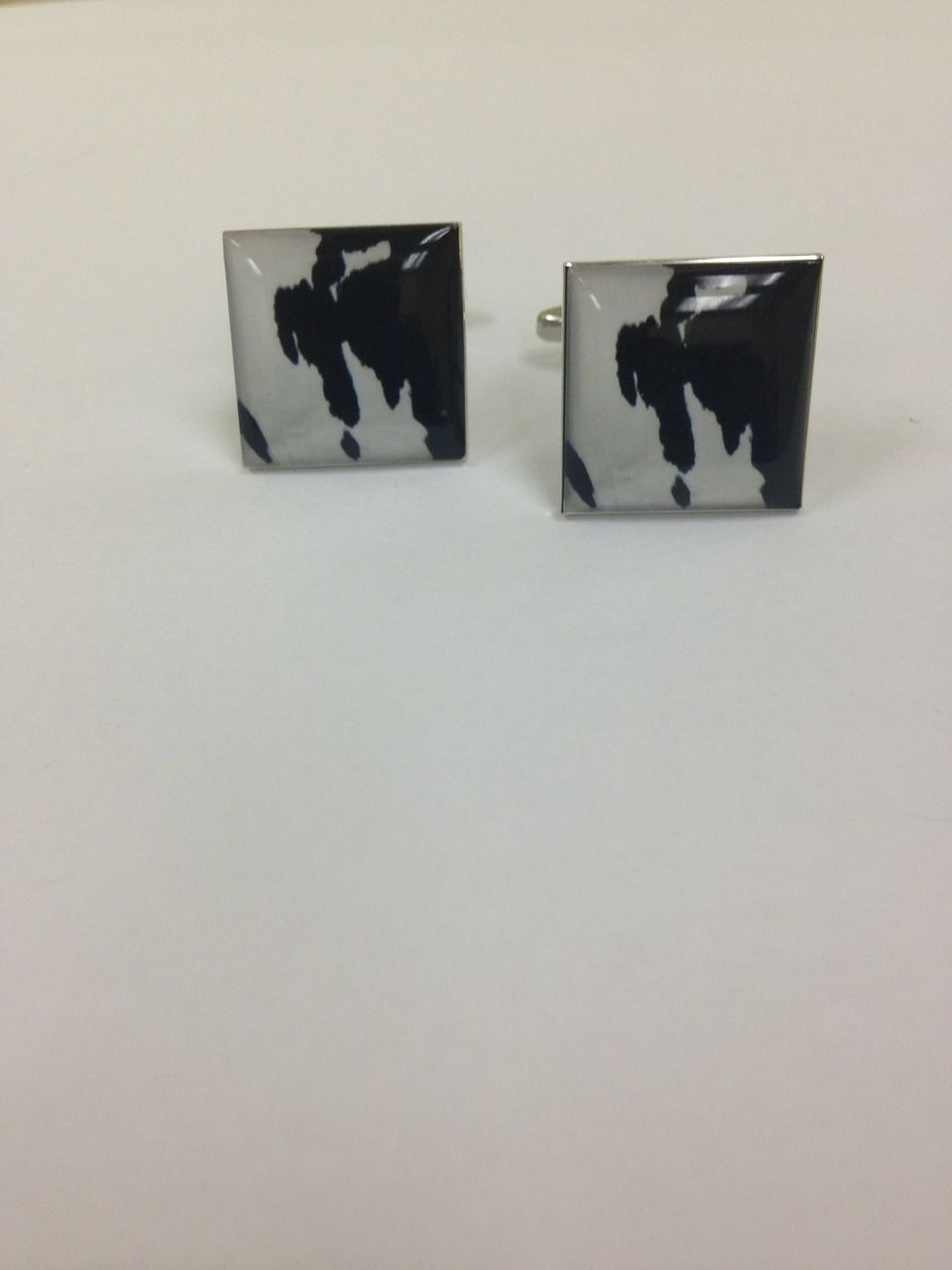 2 Pc. EXOTIC Cow Print Design Cufflinks