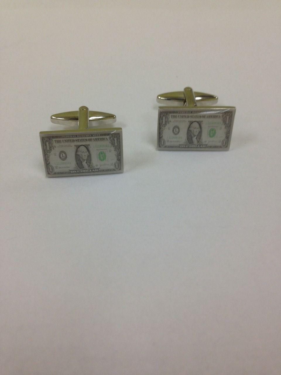 2 Pc. Lavish Fancy Dollar Print Cufflinks