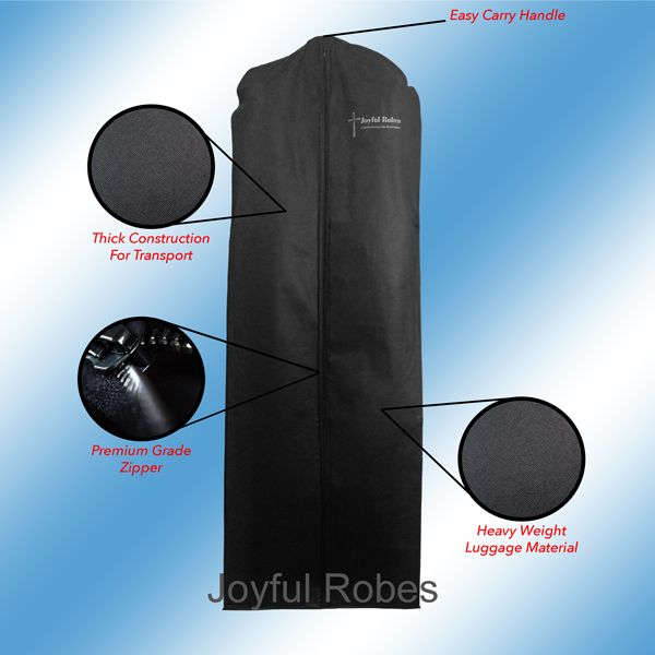 Joyful Robes Premium Clergy Luggage Bag Black
