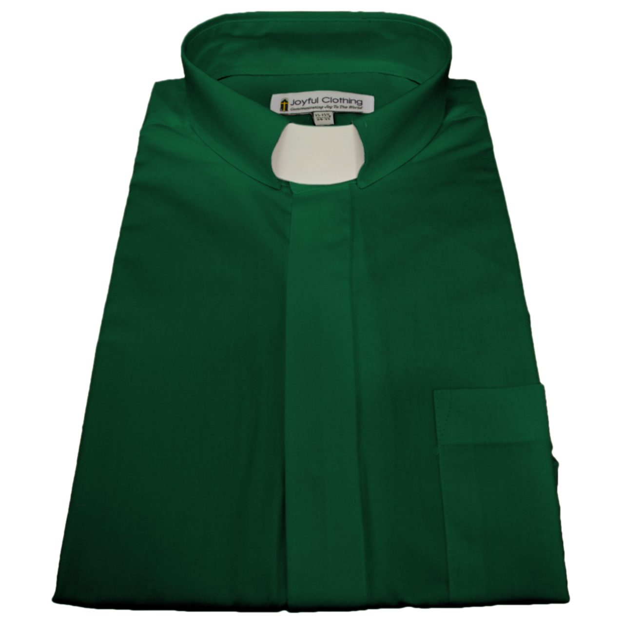 125. Men's Long-Sleeve Tab-Collar Clergy Shirt - Kelly Green