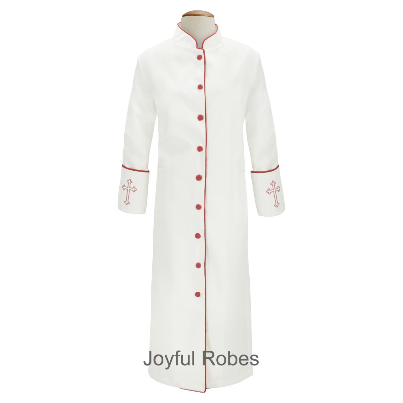 201 W. Women's Clergy/Pastor Robe - White/Red Design