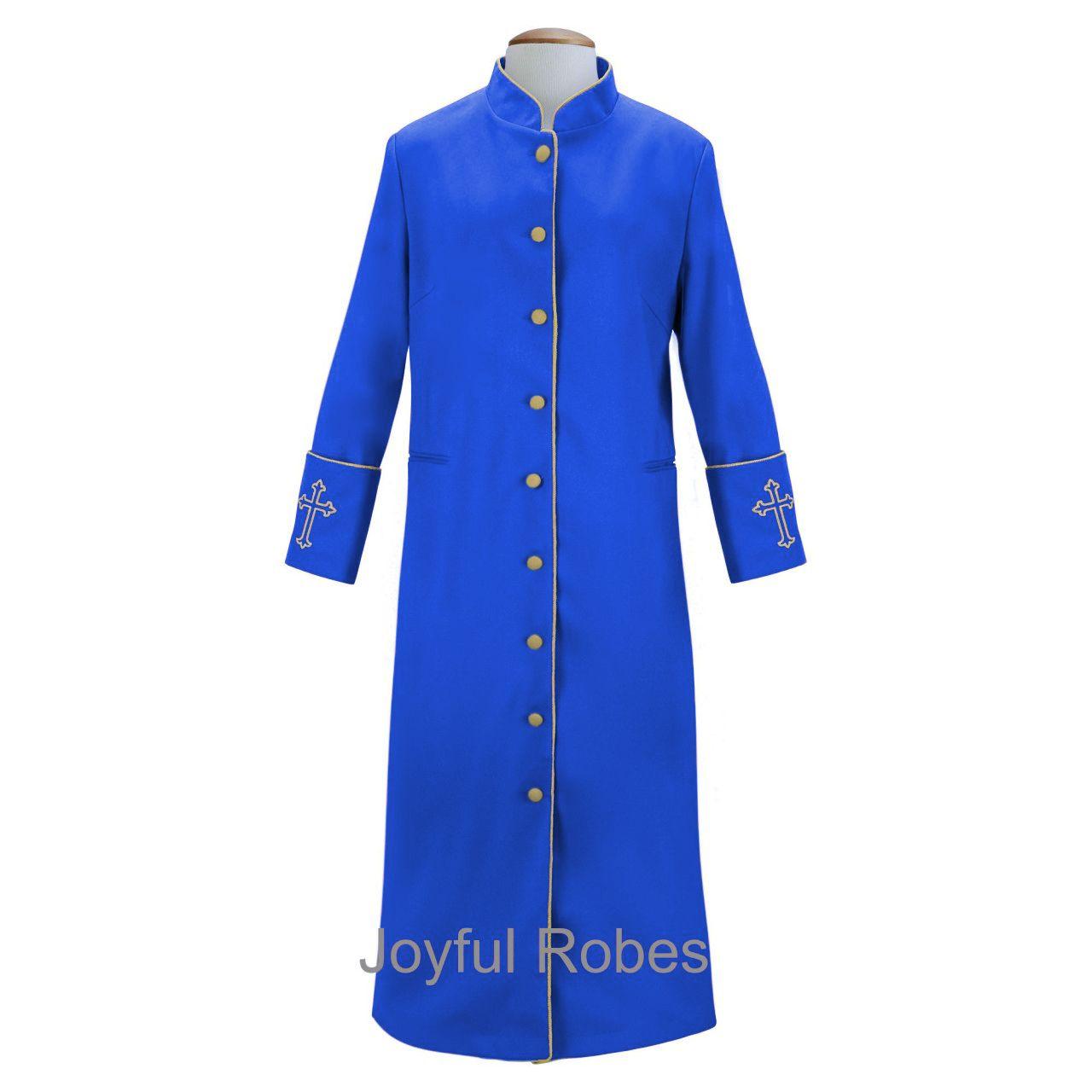 208 W. Women's Clergy/Pastor Robe Royal/Gold Design