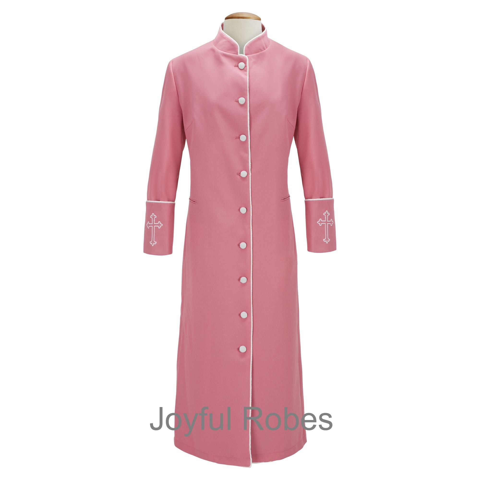 209 W. Women's Clergy/Pastor Robe - Rose/White